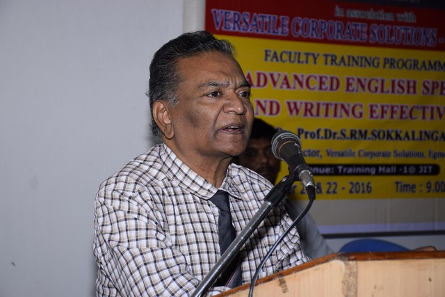 """FDP Titled """" SPEAK & WRITE IN ENGLISH EFFECTIVELY"""" – 21 & 22.11.2016"""